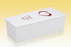 Kinderkist Linea 65 Wit met hart